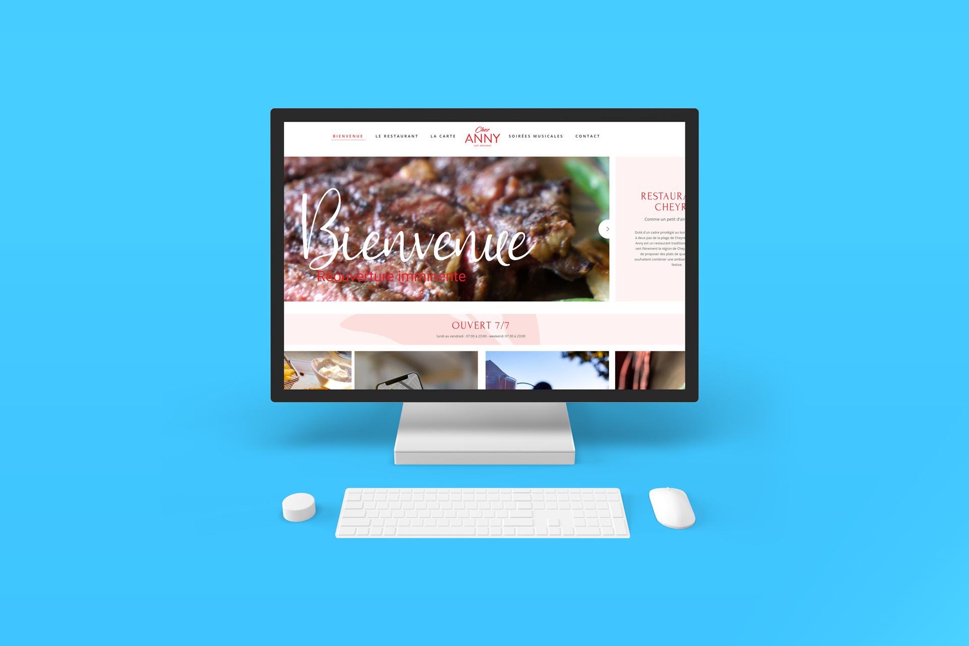 Site web chez anny